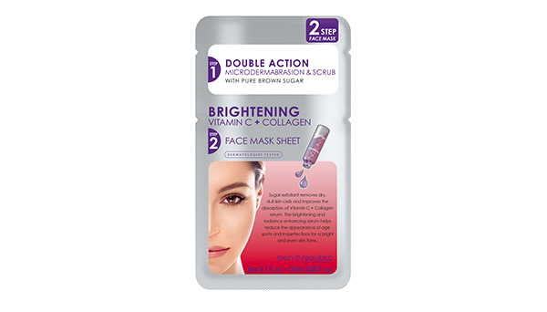 Two Step Brightening Vitamin C + Collagen Face Mask Sheet 28ml