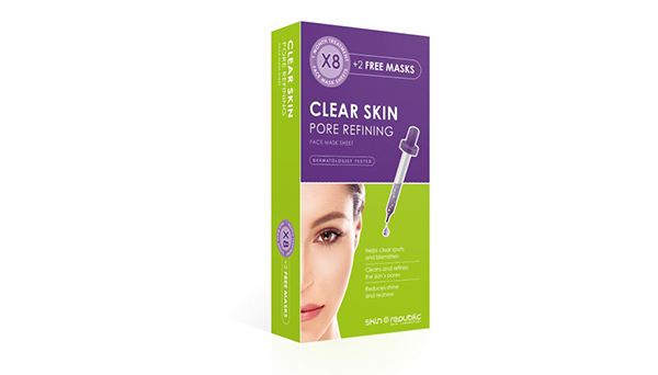 Clear Skin Pore Refining Face Mask Sheet Monthly Treatment 8+2 250ml