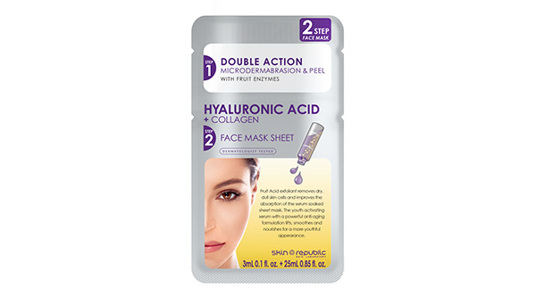 Two Step Hyaluronic Acid + Collagen Face Mask Sheet 28ml